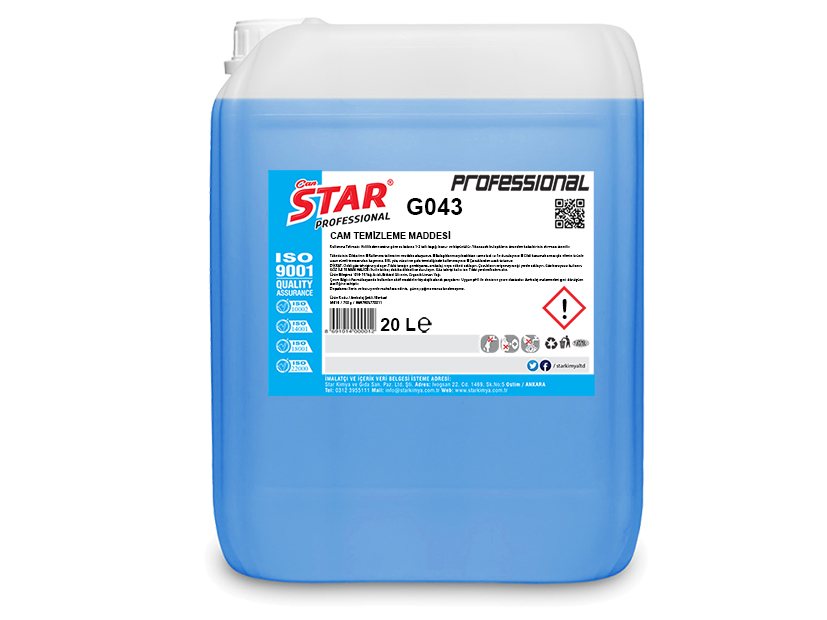 GLASS AND FURNITURE CLEANING LIQUID 20 LT