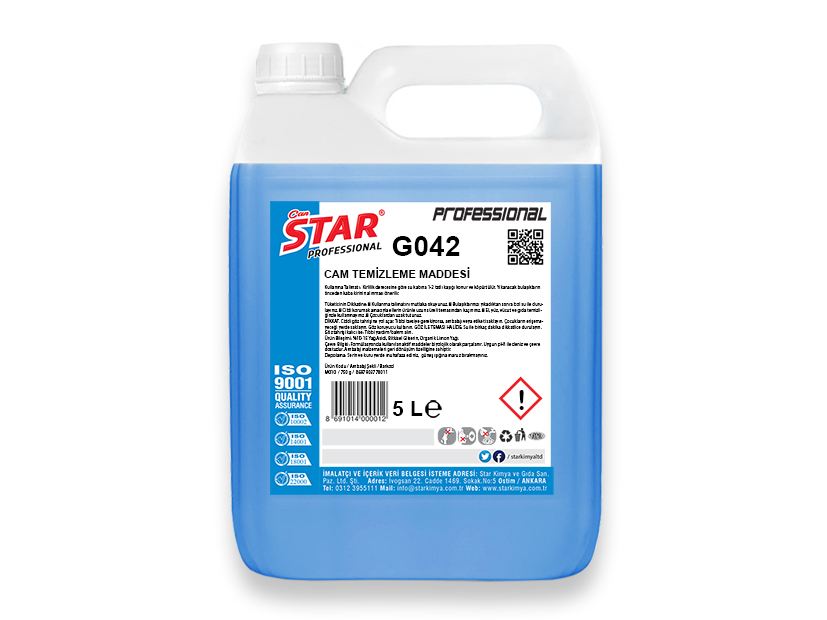 GLASS CLEANING LIQUID 5 LT